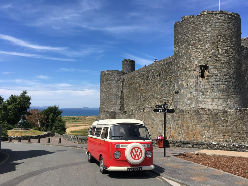 Hire a VW campervan to tour the welsh castles